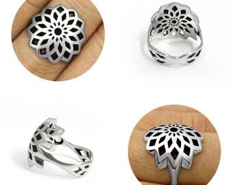 Ring: Fibonacci. Sterling Silver 925.