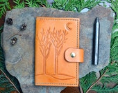 Winter Trees Leather Journal Cover with 2 Replaceable Notebooks