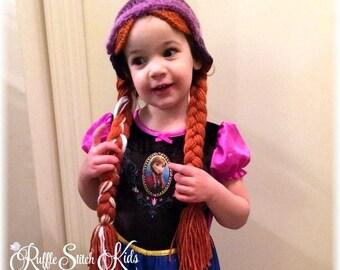 Custom Order Hand Crocheted Frozen Anna Hat Baby & Toddler 12mos-Teen