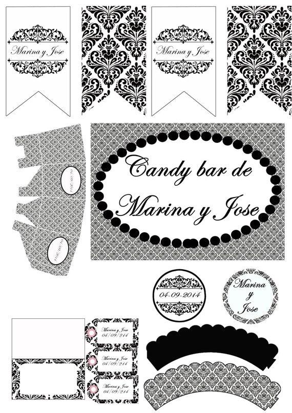 Decoracion Baño Boda: boda, decoracion bodas, candy bar boda, imprimibles, invitacion boda