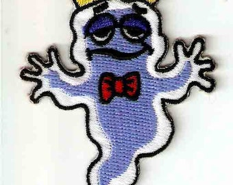 Boo Berry Cereal Mascot Embroidered General Mills Iron On / Sew On Patch