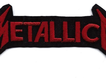 METALLICA red black American heavy metal band applique Embroidered Iron On / Sew On Patch ~ Heavy metal thrash metal speed metal