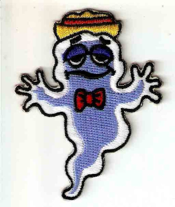 Boo Berry Cereal Mascot Embroidered General Mills Iron On