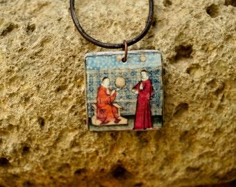 Alchemy pendant, Alchemist, Alchemical necklace, Alchemy necklace, Alchemical pendant, Middle ages, Medieval pendant, Alchemy jewelry