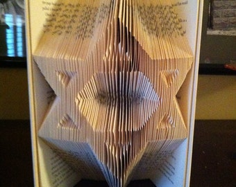 "Book Folding Pattern for the ""star of David"" ~ Judaism ~ Religion+FREE TUTORIAL"