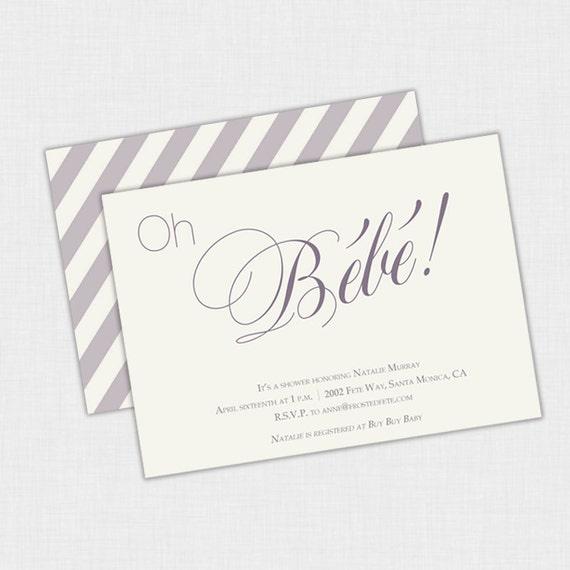 Modern french baby shower invitation diy printable invite 5 x 7 il570xn filmwisefo