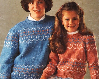 Fairisle Fancy Sweater Knitting Pattern - Elle 300
