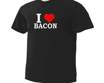I LOVE BACON Heart Funny Humor T-Shirt