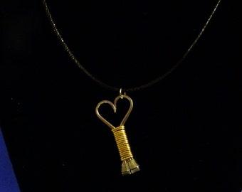 Dainty Horseshoe Nail Heart Necklace