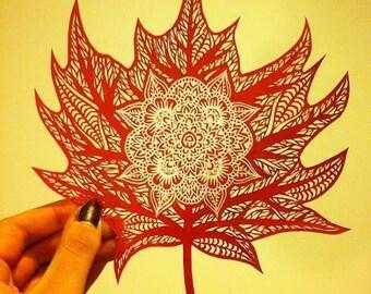 Leaf Paper Cut and Design Hybrid