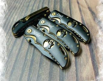 1 Knives - Personalized Pocket Knife Groomsmen gift, Custom Knives Christmas gift ,Gentleman'sKnife , Rescue Knife, Hunting Knives