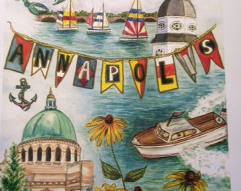 Annapolis, Maryland print of original watercolor