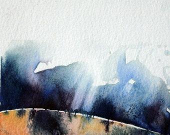 ORIGINAL ART 'A walk over the hills' Mixed Media.