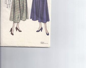 Vintage Vogue Pattern # 6521 1949 Women's Skirt