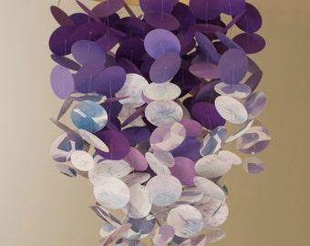Purple nursery mobile, lavender baby mobile, crib mobile, dark purple, lavender mobile, light purple, girl nursery, watercolor print