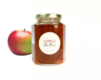 Gourmet Old Style Heirloom Macintosh Apple Butter  // All Natural // New Hampshire Home Grown // 12oz