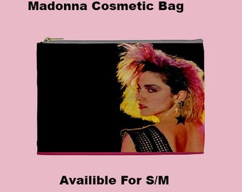 80s Cosmetic Bag, Cosmetic Bag, Make Up Bag,Madonna 80's, 90's, 90's music ,80's music, 80's bags