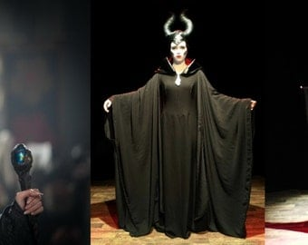 Maleficent inspired costume, horns and cosplay