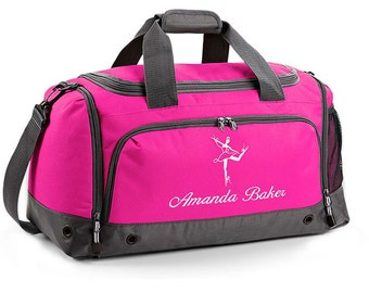 Personalised Children's Ballet Bag Holdall; Fuchsia / Black / Blue / Red