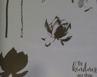 Stampin up Lotus Blossom
