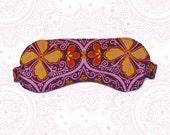 Organic cotton Sleep mask - lined with hand dyed hemp silk
