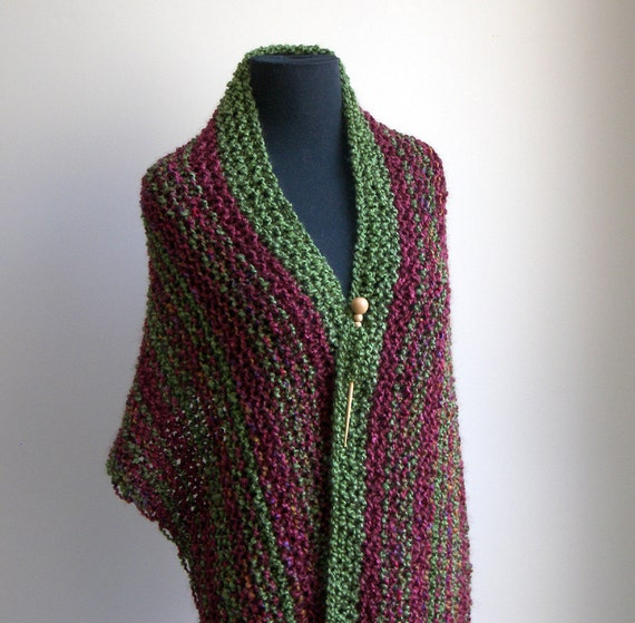 Hand Knit Shoulder Shawl Scarf Cowl Wrap Stylish by PeacefulPath