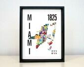 Miami City Map Print
