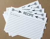Navy Arrow Recipe Cards