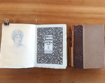 Antique Roycroft Letterpress Books: Little Journeys to the Homes of Famous Women, 2 Volumes, Miriam Edition, 1911. Arts and Crafts Movement.