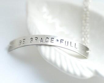 Inspirational Jewelry, Word Bracelet, Meditation Bracelet, Yoga Jewelry, Personalized Jewelry, Silver Bracelet, Touchstone, New Age Jewelry