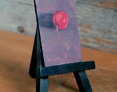 Original miniature oil painting -- ORANGE CHERRY -- Unframed with tiny easel, by Diana Moses Botkin