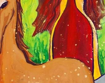 Small Print Goddess Art - Maeve/Medb, Celtic Sovereignty Goddess