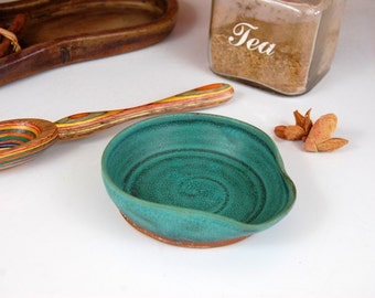 Turquoise Spoon Rest - Made to Order