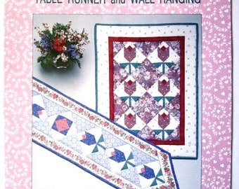 Tulip Table Runner and Wall Hanging Quilting Pattern by Patricia Knoechel Quiltwork Pattern