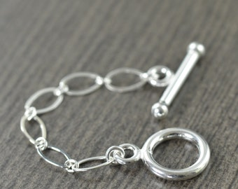 Sterling silver Toggle clasp 2 inch necklace extension gifts for her