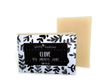 Artisan Natural Soap | All Natural Soap | Handcrafted Soap | Clove | Vegan Soap | Artisan Soap | Homemade Soap | Soap | Cold Process Soap