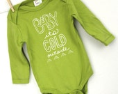 baby bodysuit, long sleeve, baby it's cold outside, organic cotton baby clothes, screen printed, modern baby graphic bodysuit