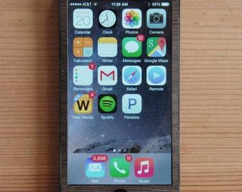 Wenge iPhone 6 / iPhone 6S Wrap - Wood iPhone 6 Case - Single-Piece Wrap - Sleek Style