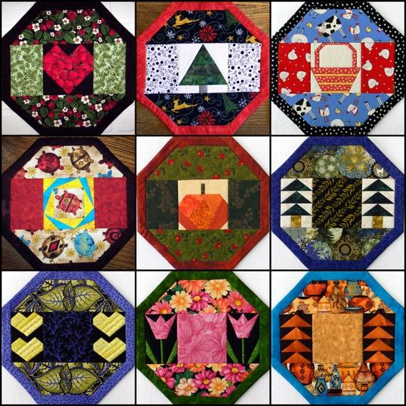 9 Options - NO Binding! Placemat - Table Centerpiece - Holidays & Seasons - PDF Pattern