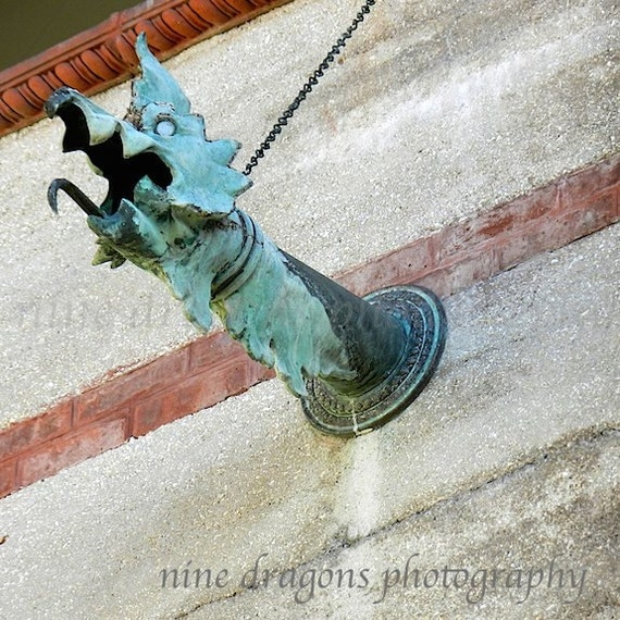 Copper Gargoyle Art Architectural Detail Building Detail