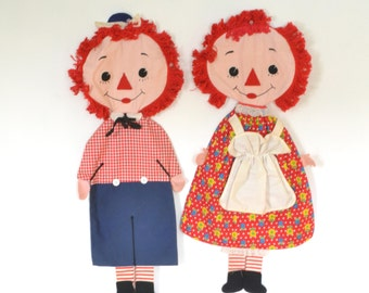 Raggedy Ann Andy Pajama Bags Simon Simple 68 Bobbs Merrill