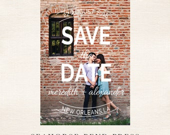 Save The Date Digital File, The Meredith, Digital Photography Card