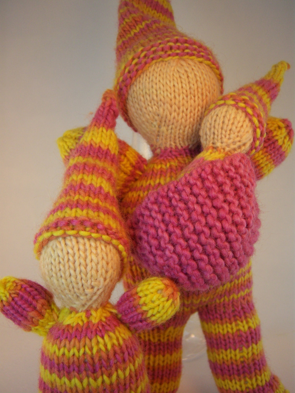 Gnome Knitting Pattern : Waldorf Knitting PATTERN Knitted Gnome Family by SimplyPlaying1