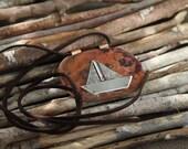 Big Ship pendant - Large pendant silver boat - Authentic Pendant