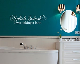 bathroom decal  etsy, Bathroom decor