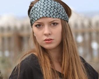 Head Scarf Headband Navy Workout Headband Headscarf Head Wrap Women Hair Bandana Running Headband Navy Hair Scarf (#4275) S M L X