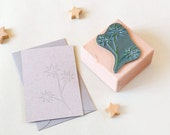 Christmas Rubber Stamp, Christmas Flower, Botanical rubber stamp, Floral Stamp, Christmas Stamp, Christmas Star Stamp, Holiday wrapping