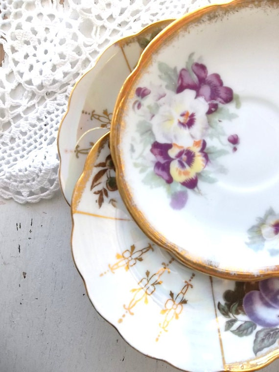Decorative Wall Plates Nz : Vintage shabby cottage chic wall decor mix and by
