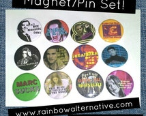Empire Records buttons pins pin / magnet set Rex Manning Day pinback buttons Damn the Man Save the Empire