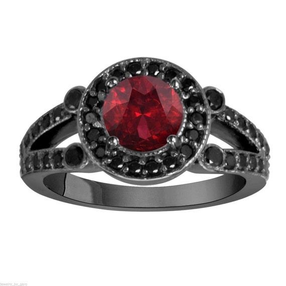 like this item - Garnet Wedding Rings